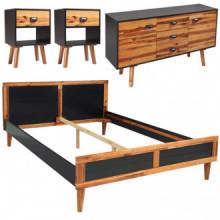 Set demuebles de dormitorio 4 piezas...