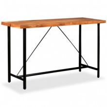 Set muebles de bar 9 piezas madera maciza...
