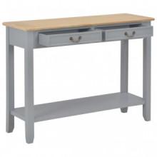 Mesa consola de madera gris 110x35x80cm Vida XL