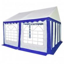 Carpa de jardín de PVC 4x4 m azul y blanco Vida XL