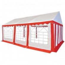 Carpa de jardín de PVC 4x6 m rojo y blanco...