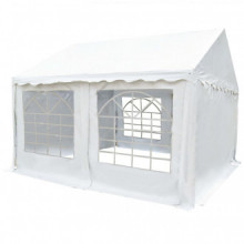 Carpa de jardín de PVC 4x4 m blanco Vida XL