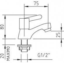 Grifo simple lavabo