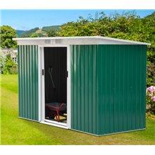 Caseta metálica verde 277x130x173cm Outsunny