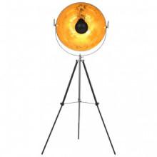 Lámpara de pie negro y dorado E27 51 cm Vida XL