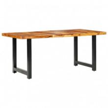 Mesa de comedor de madera maciza de sheesham...