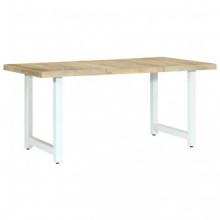 Mesa de comedor de madera maciza de mango...