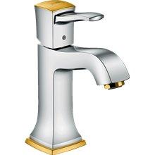 Grifo de lavabo 110 cromo y oro Metropol Classic Hansgrohe