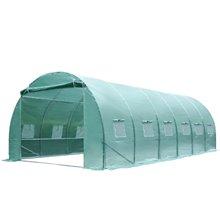 Invernadero túnel verde ventanas 600x300x200 Outsunny