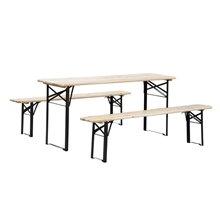 Mesa picnic color madera 120x50x75 Outsunny
