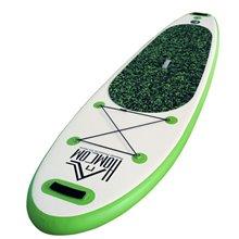 Tabla Paddle Surf verde hinchable con remo HomCom