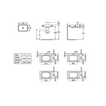 Lavabo encastrado Inspira Square Blanco Mate 55x37 Roca