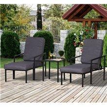 Conjunto de sillas, mesa y reposapies de 5 piezas Outsunny