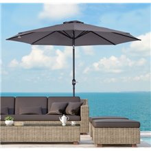 Parasol Reclinable Gris Outsunny