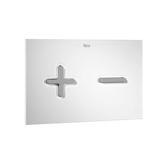 Placa PL6 Dual color combi blanco gris Roca