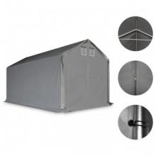 vidaXL Carpa de almacenamiento PVC gris 3x6 m