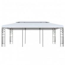 vidaXL Cenador de jardín 3x6 m blanco