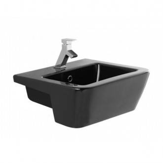 Lavabo ADVANCE 58 Negro Semi Encastre