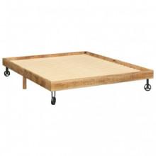 vidaXL Estructura de cama de madera maciza de...