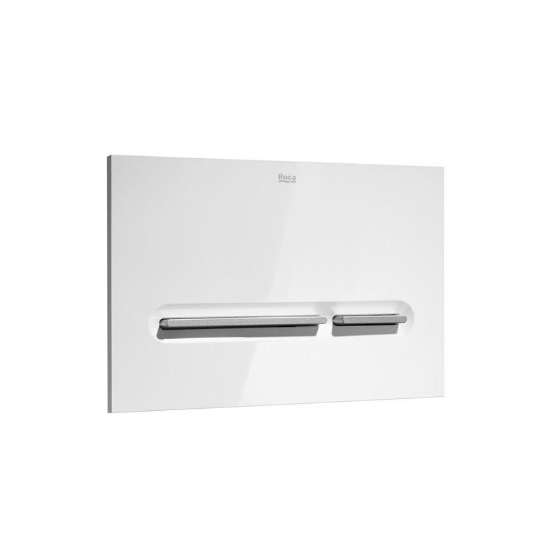 Placa blanca y gris PL5 Dual One Roca