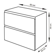 Conjunto mueble con lavabo y espejo 60 ESTEPA Tegler