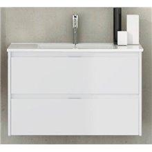 Mueble con lavabo de fondo reducido 60 Blanco brillo Ibiza TEGLER