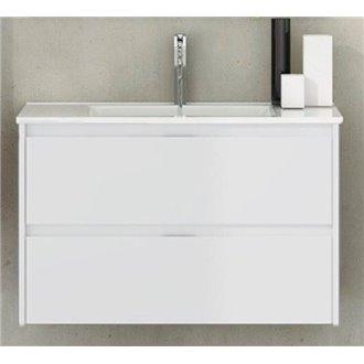 Mueble con lavabo de fondo reducido Blanco brillo Ibiza TEGLER