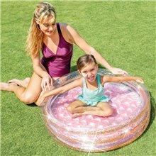 Piscina infantil hinchable con purpurina 86x25...