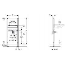 Bastidor Duofix para lavabo 112 Geberit