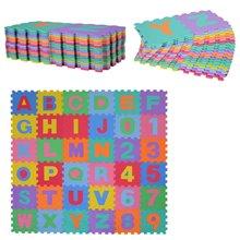 Alfombra puzzle para bebes 36 piezas HomCom