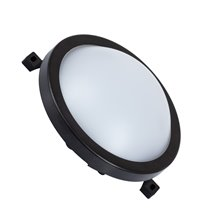 Plafón LED Hublot circular IP54 Ø21x6cm negro