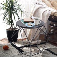 Mesa de café minimalista de color negro Homcom
