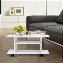 Mueble de televisón con ruedas blanco Homcom
