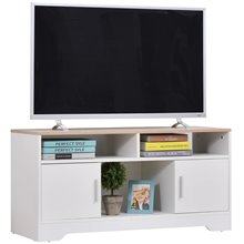 Mueble de televisón con 3 estantes y 2 armarios blanco Homcom