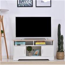Mueble de televisón con 3 estantes y 2 armarios...