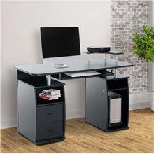 Mesa para ordenador de color negro 120x55x85cm Homcom