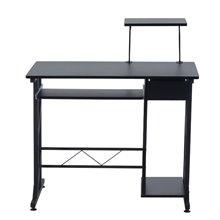 Escritorio para despacho de madera en color negro Homcom