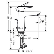 Grifo de lavabo monomando Talis 110 Coolstart...