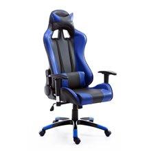 Silla de oficina gaming en color azul y negro Homcom