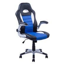 Silla directiva gaming en color azul blanco y negro Homcom