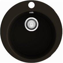 Fregadero circular de 1 cuba Brown 48 x 48cm Zafiro Basic Poalgi