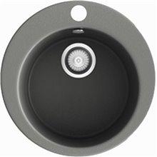 Fregadero circular de 1 cuba Concret 48 x 48cm Zafiro Basic Poalgi