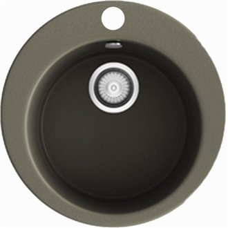 Fregadero circular de 1 cuba Tundra 48 x 48cm Zafiro Basic Poalgi