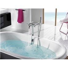 Grifo de bañera-ducha bimando suelo Loft Roca