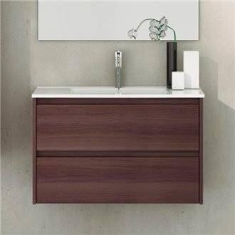Mueble con lavabo de fondo reducido 80 Fresno Tea Ibiza TEGLER