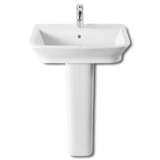Lavabo con pedestal The Gap 60x47cm Roca