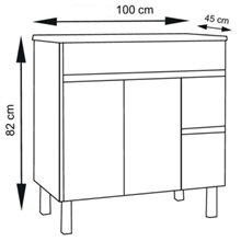 Mueble con lavabo Roble Evasión 100 Ísquia TEGLER