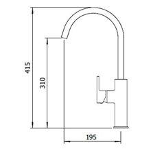 Grifo de fregadero Alpina Chrome Oval Clever