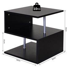 Mesita auxiliar negra con diseño moderno Homcom