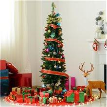 Árbol de Navidad estrecho 150cm Homcom